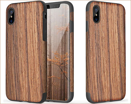 ROCK Wooden Case for iPhone Xs