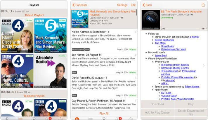 RSSRadio iPhone and iPad Podcast App Screenshot