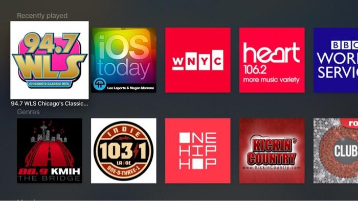 Radio.net Apple TV Radio App Screenshot