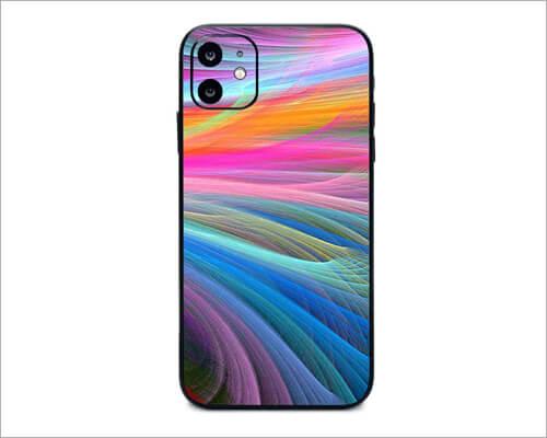 Rainbow Waves iPhone 11 Skin Wrap