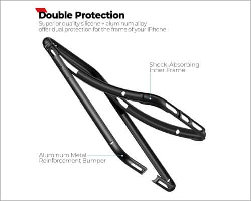 Ranvoo Slim Bumper Case for iPhone 11 Pro