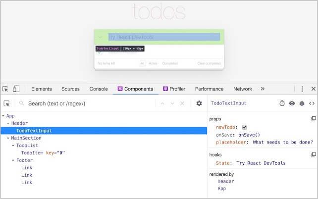 React Developer Tools Google Chrome extension