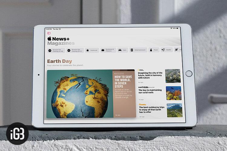 Read magazines with Apple News Plus
