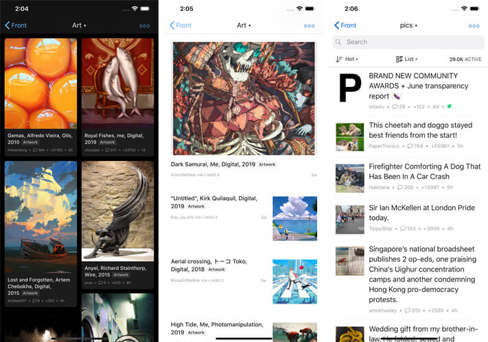 Readder for Reddit iPhone and iPad App Screenshot