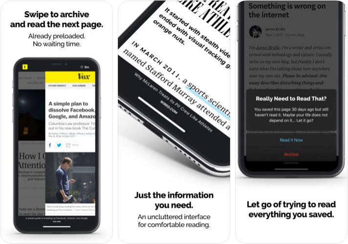 Reading Queue iPhone and iPad Read It Later App Screenshot