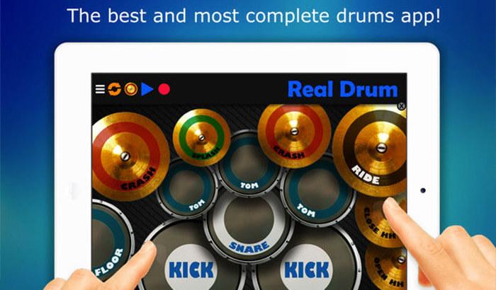 Real Drum Music iPhone and iPad Game Screenshot