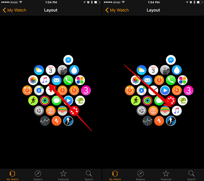 Rearrange Apple Watch App Icons from iPhone