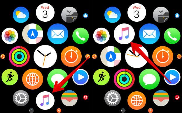 Rearrange Apple Watch App Icons