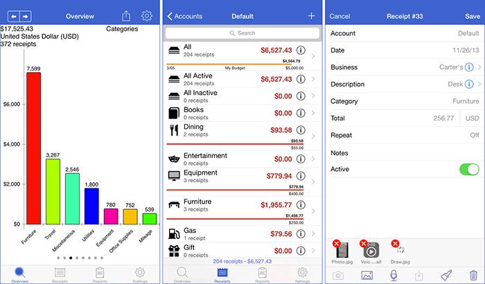 Receipts iPhone and iPad App Screenshot