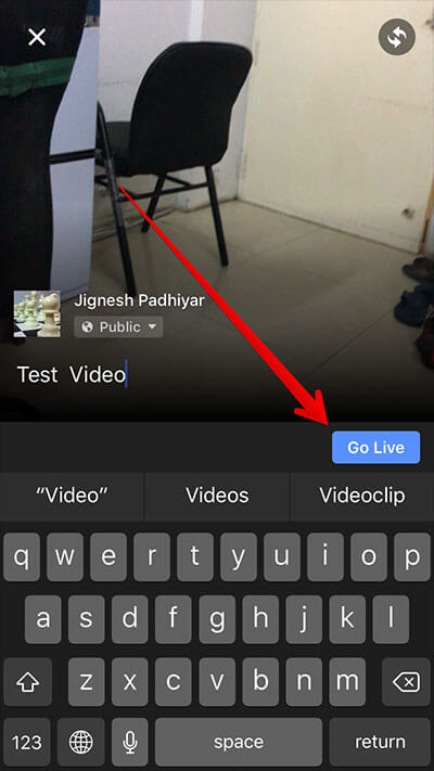 Record Live Facebook Video on iPhone