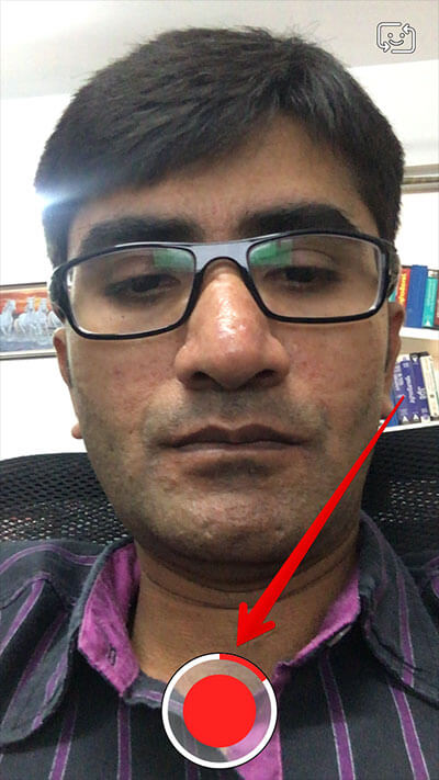 Record Video in Snapchat iPhone App