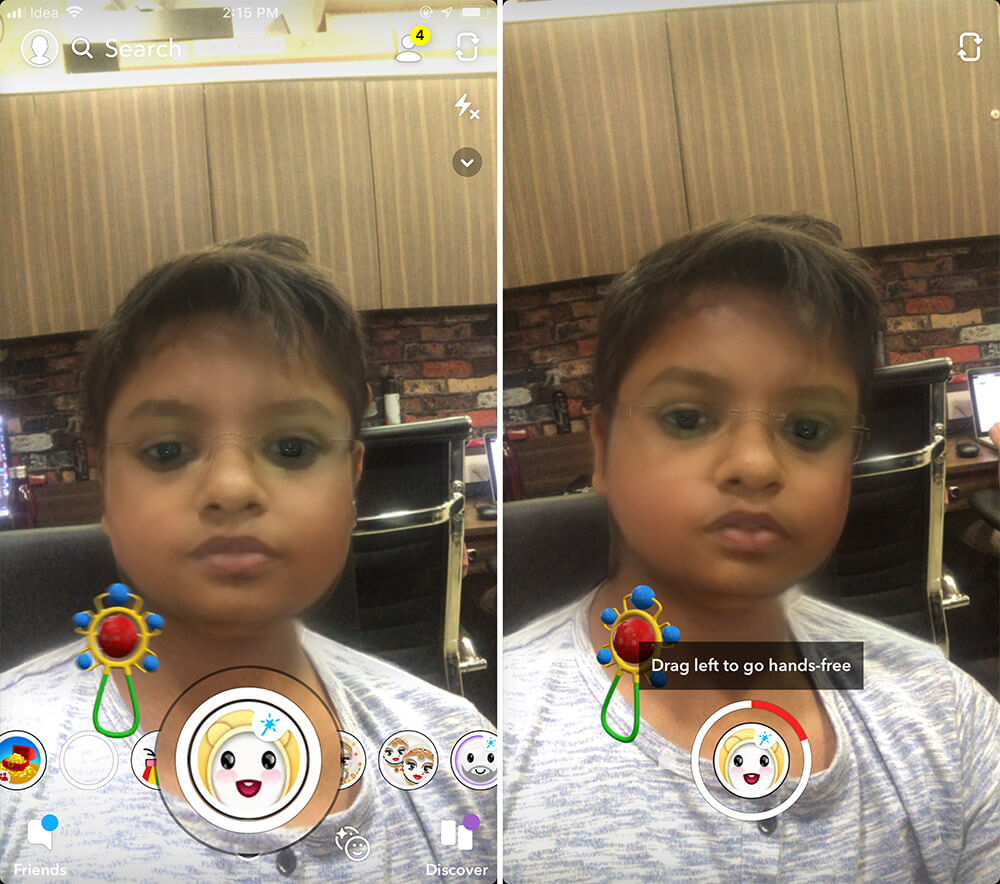 Record or Capture Snapchat Baby Filter