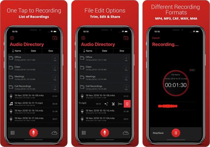 Recorder Plus - Voice Recorder iPhone and iPad App Screenshot