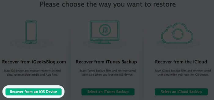 Recover Deleted Messages from iPhone and iPad