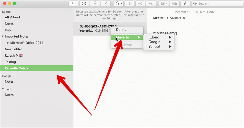 Recover Deleted Notes in Notes App on Mac
