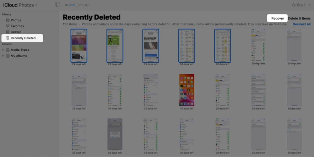 Recover Deleted iPhone Photos from iCloud