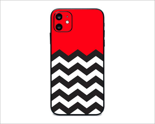 Red Chevron Skin Wrap for iPhone 11