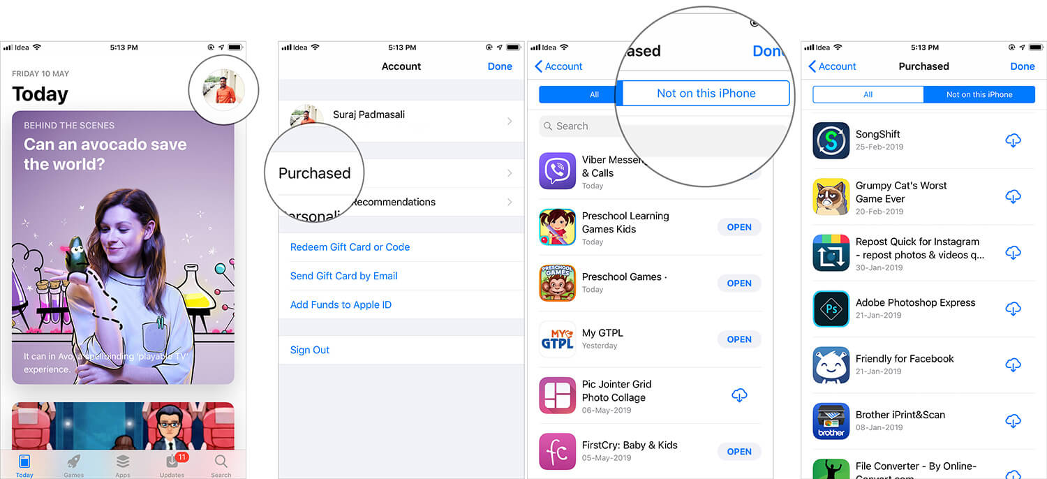 Redownload Purchased Apps on iPhone or iPad