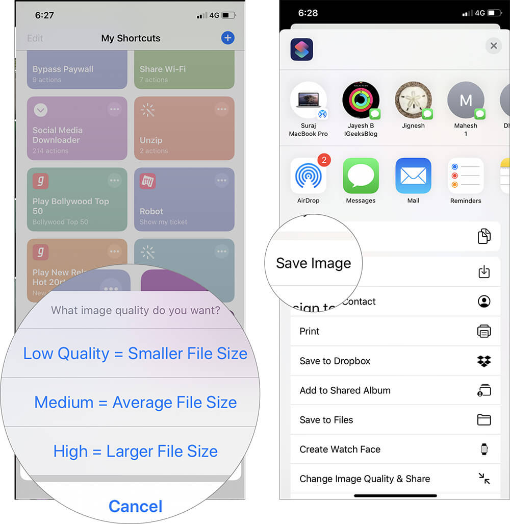 Reduce Image Size Using Shortcuts App