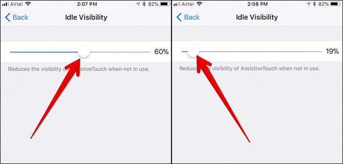 Reduce Visibility of AssistiveTouch on iPhone in iOS 11