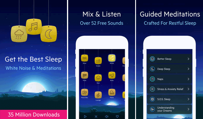 Relax Melodies Stress-Relieving iPhone and iPad App Screenshot