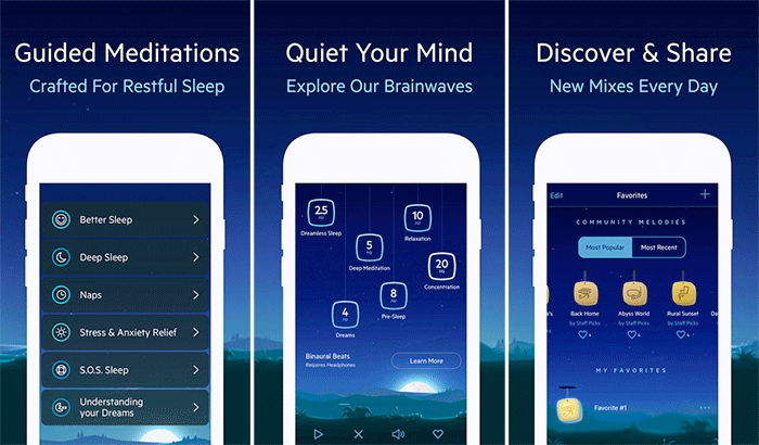 Relax Melodies iPhone and iPad App Screenshot