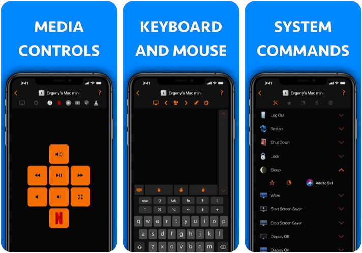Remote Control for Mac iPhone and iPad App Screenshot