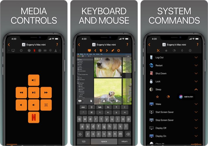 Remote, Mouse and Keyboard iPhone App Screenshot