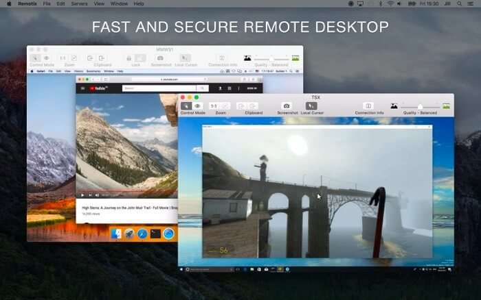Remotix VNC Remote Desktop Mac App Screenshot