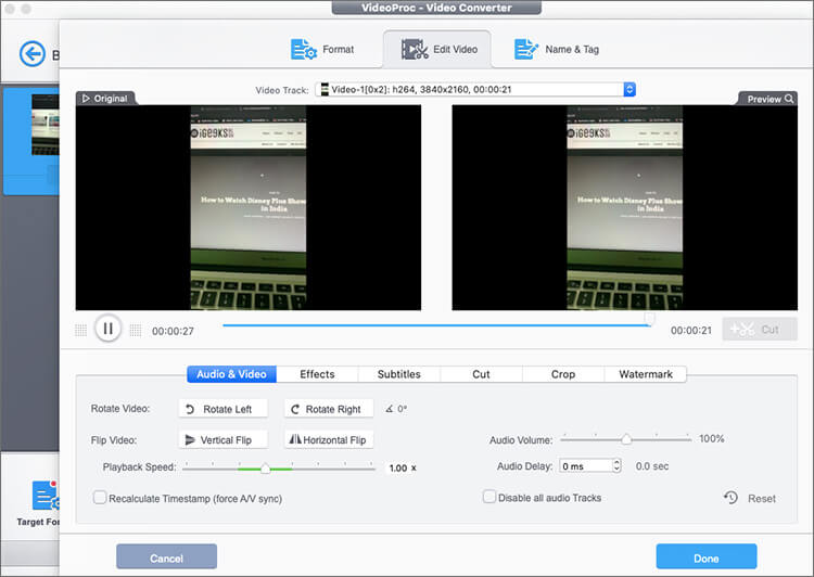 Remove Background Noise from Video Using VideoProc Software