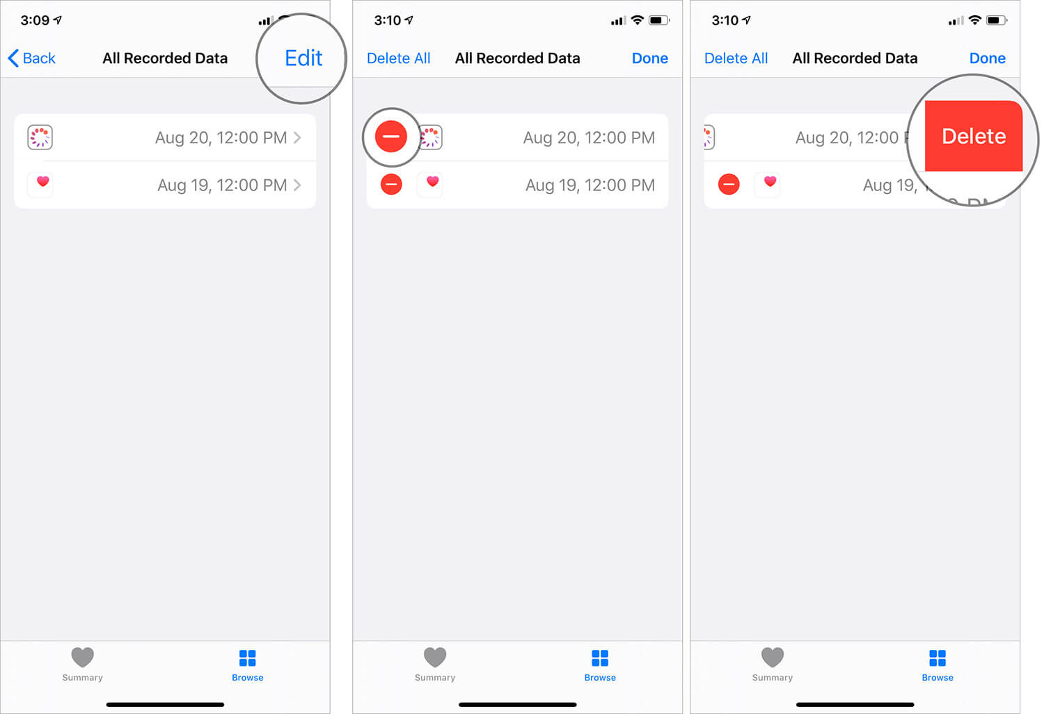 Remove Cycle Tracking Data in the Health App in iOS 13