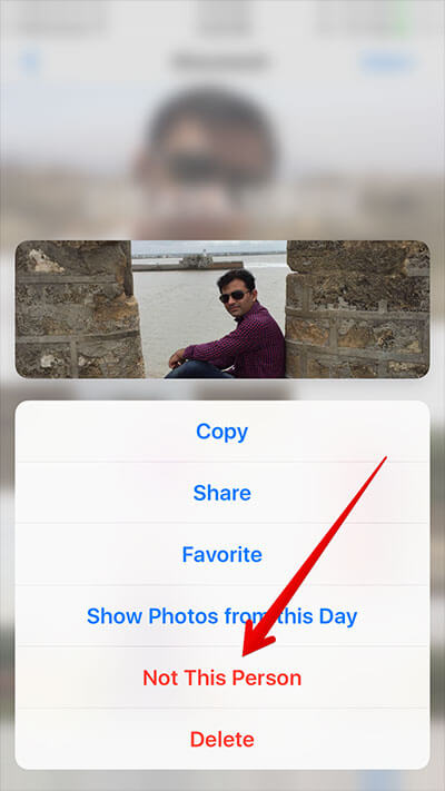 Remove Person from People Album using 3D Touch