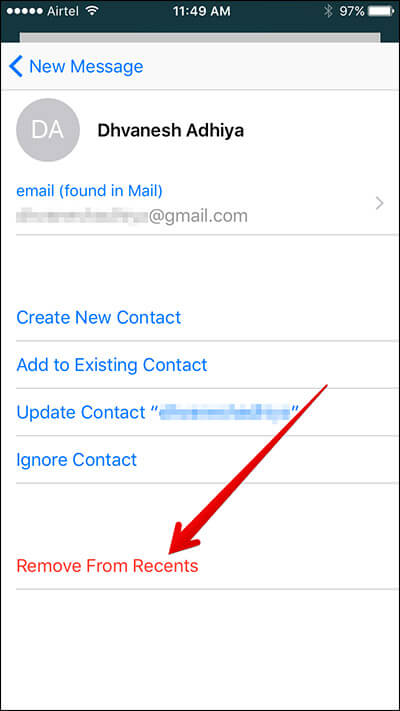 Remove Unwanted Email Suggestions from iPhone-iPad Mail App