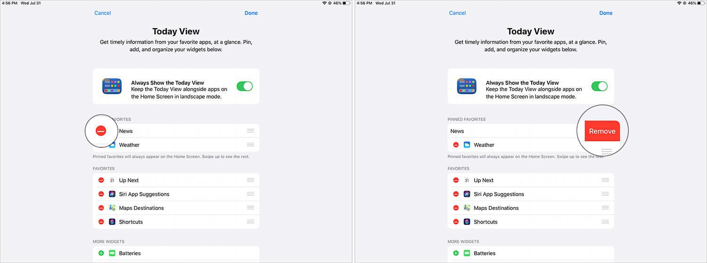 Remove Widgets from iPad Home Screen in iPadOS