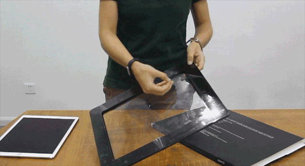 Remove liner From Adhesive Side of Stino