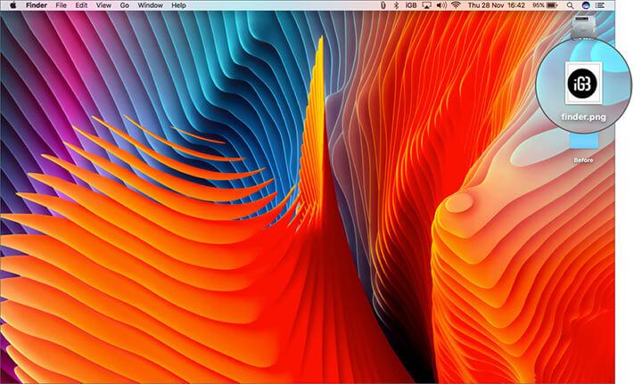 Rename image name Finder png on your Mac desktop