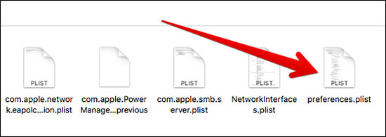 Rename preferences.plist on Mac