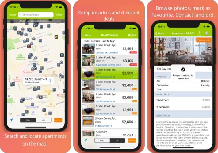 Rent Compass Apartment Finder iPhone and iPad App Screenshot
