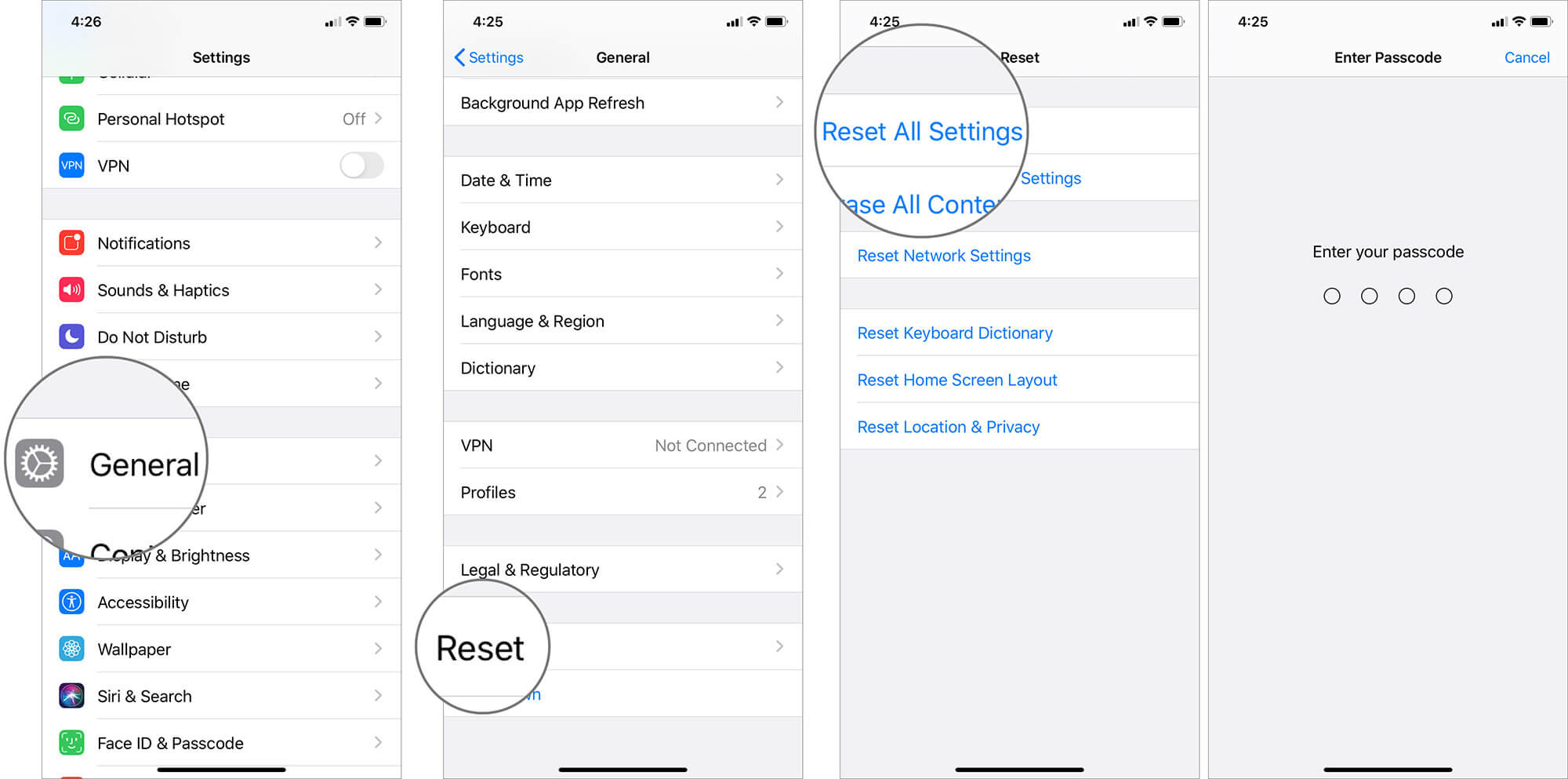 Reset All Network Settings of iPhone Running on iOS 13