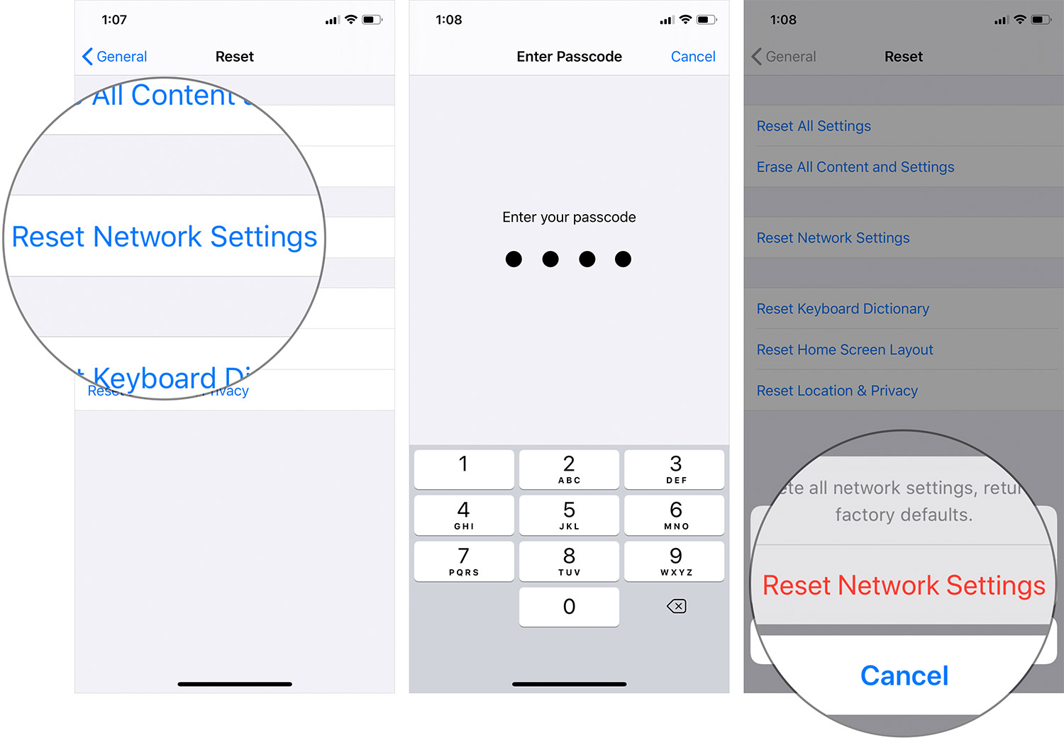 Reset Network Settings on iPhone or iPad