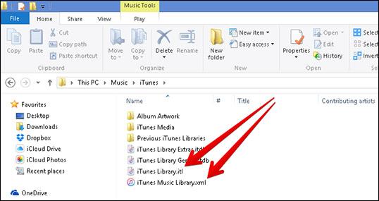 Reset iTunes Library on Windows