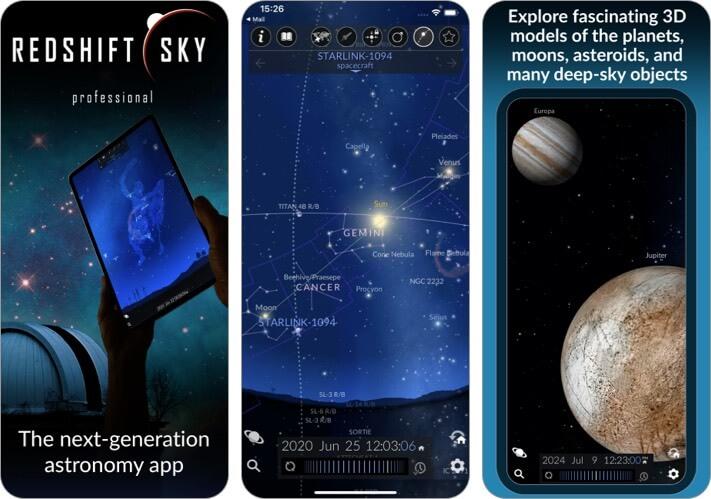 Redshift Sky Pro Stargazing iPhone and iPad screenshot