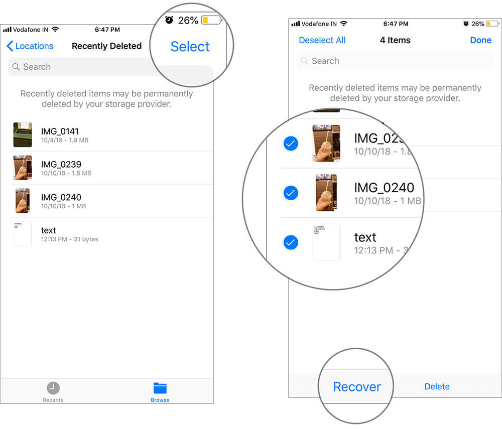 Restore Recently Deleted Files from iCloud Drive on iPhone and iPad