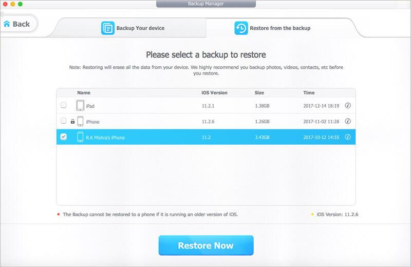 Restore iPhone Using DearMob on Mac or Windows PC