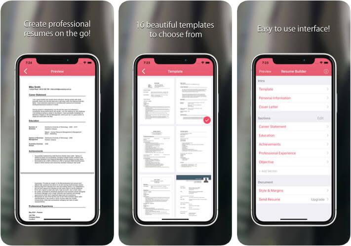 Resume Builder CV Maker iPhone App
