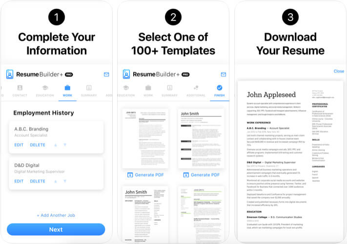 Best Resume Apps For iPhone and iPad in 2021 - iGeeksBlog