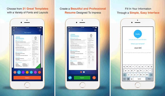 Resume iPhone and iPad App