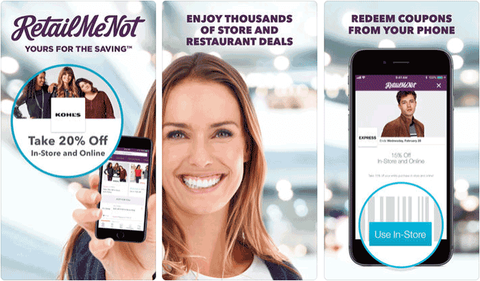 RetailMeNot iPhone Coupon App Screenshot