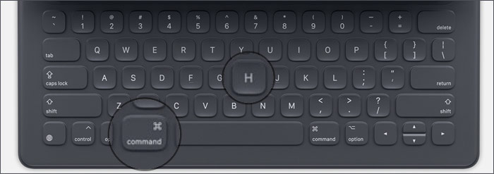 Return to the Home screen with the Smart Keyboard