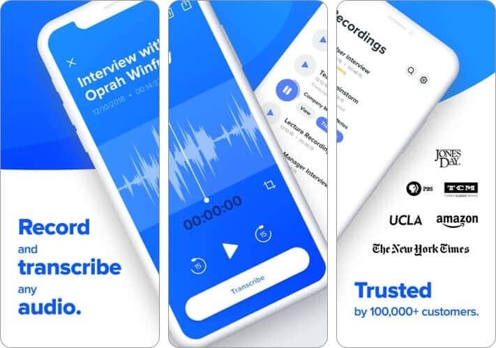Rev Voice Recorder iPhone App Screenshot